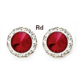 Swarovski  8MM Earrings Red