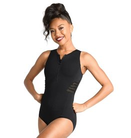 Ladder Mesh Back Scuba Leotard