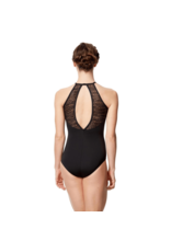 Gabi Flocked Neck Leotard