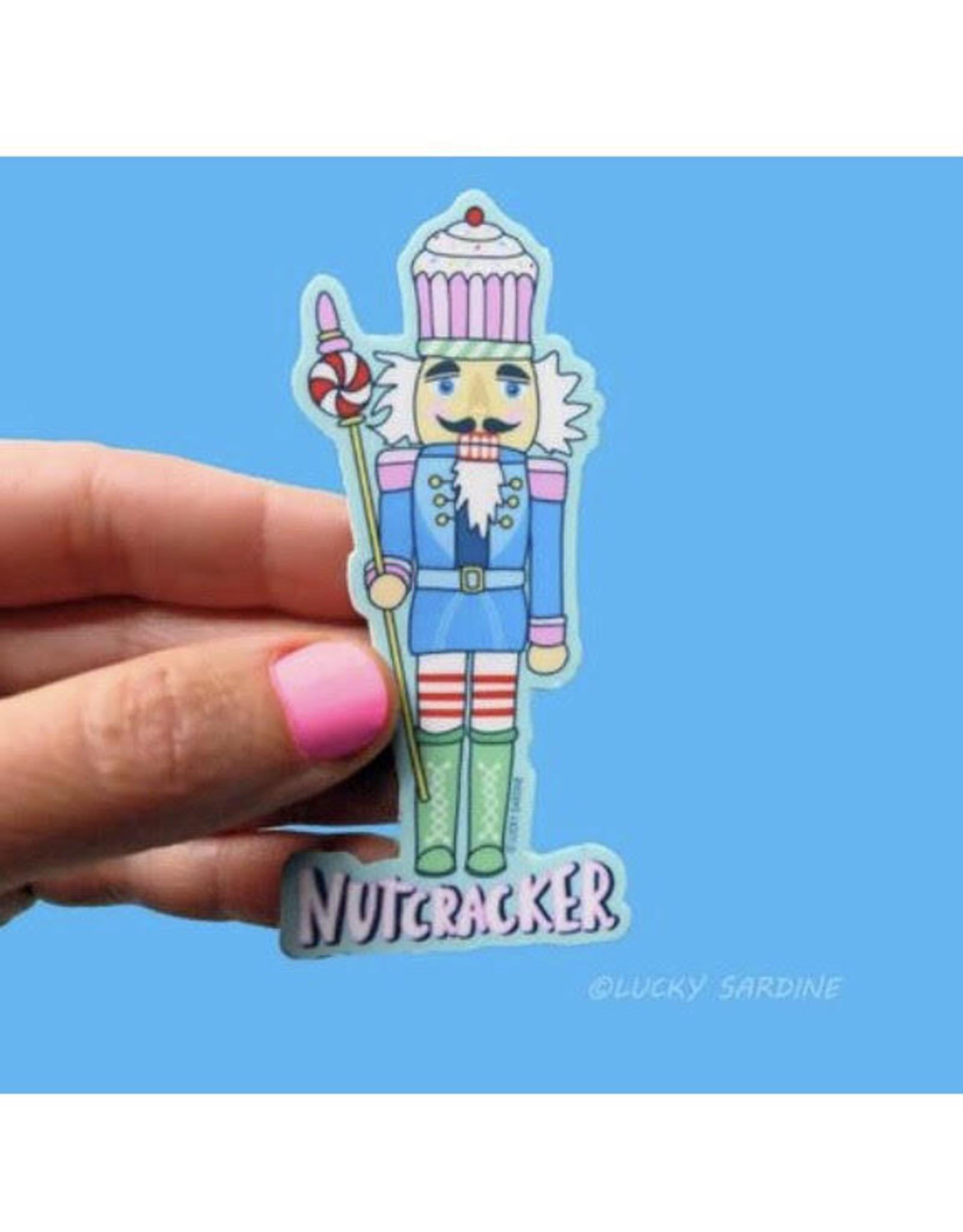 Lucky Sardine Nutcracker sticker