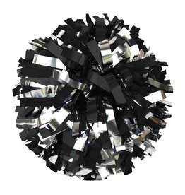 2 Color Metallic Pom - Black/Silver