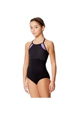 Inez Laser Cut 2 Color Leotard