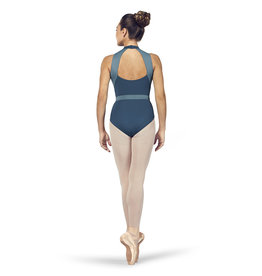 Halter Neck Color Panel Leotard