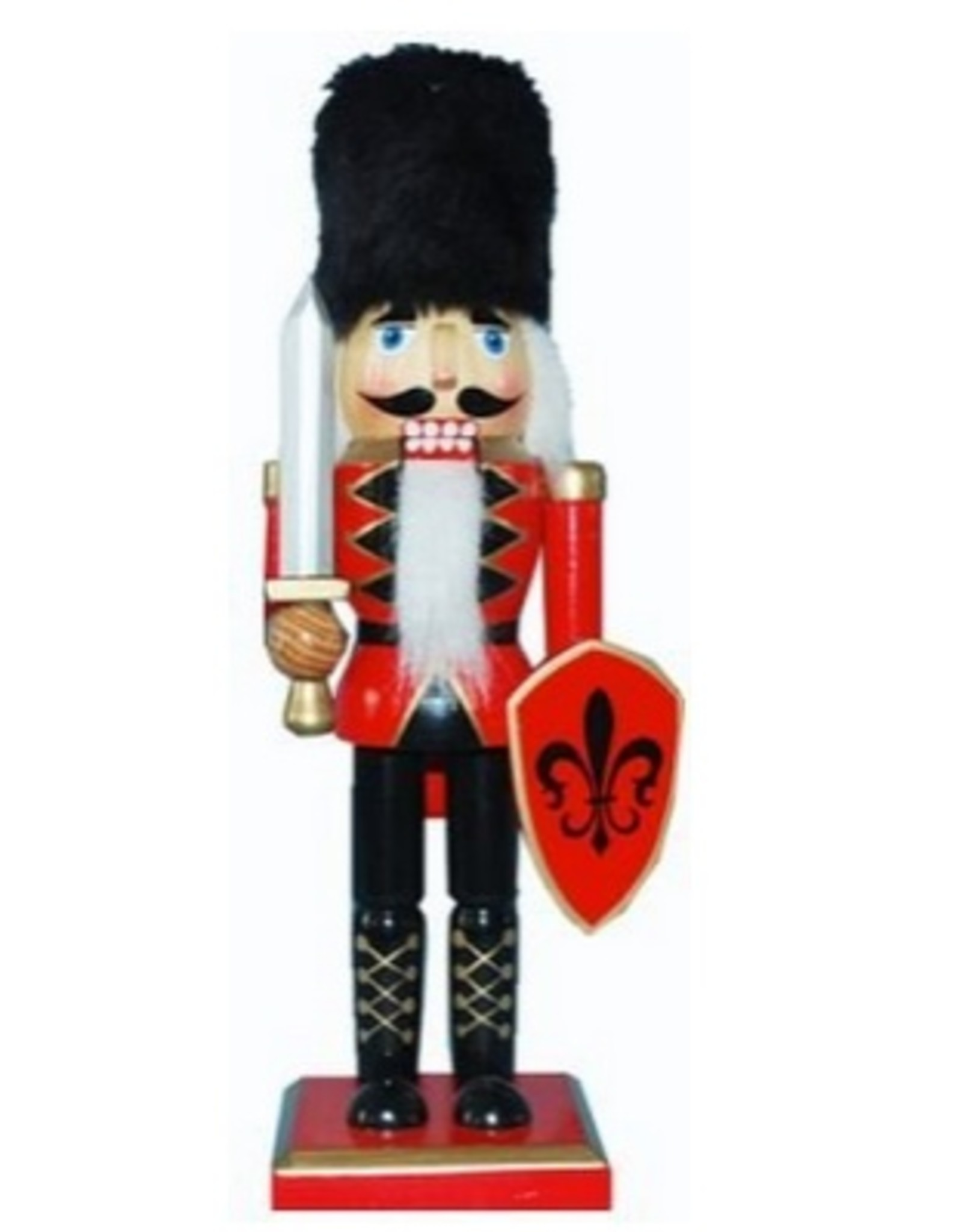 Nutcracker Ballet Gifts 10 Nutcracker Red W/Fur Hat & Shield