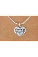 Cheer Crystal Heart Charm & Necklace