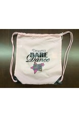 Dream Dare Dance Cinch Sack - Promotion Light Pink