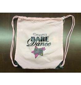 Dream Dare Dance Cinch Sack - Promotion Light Pink