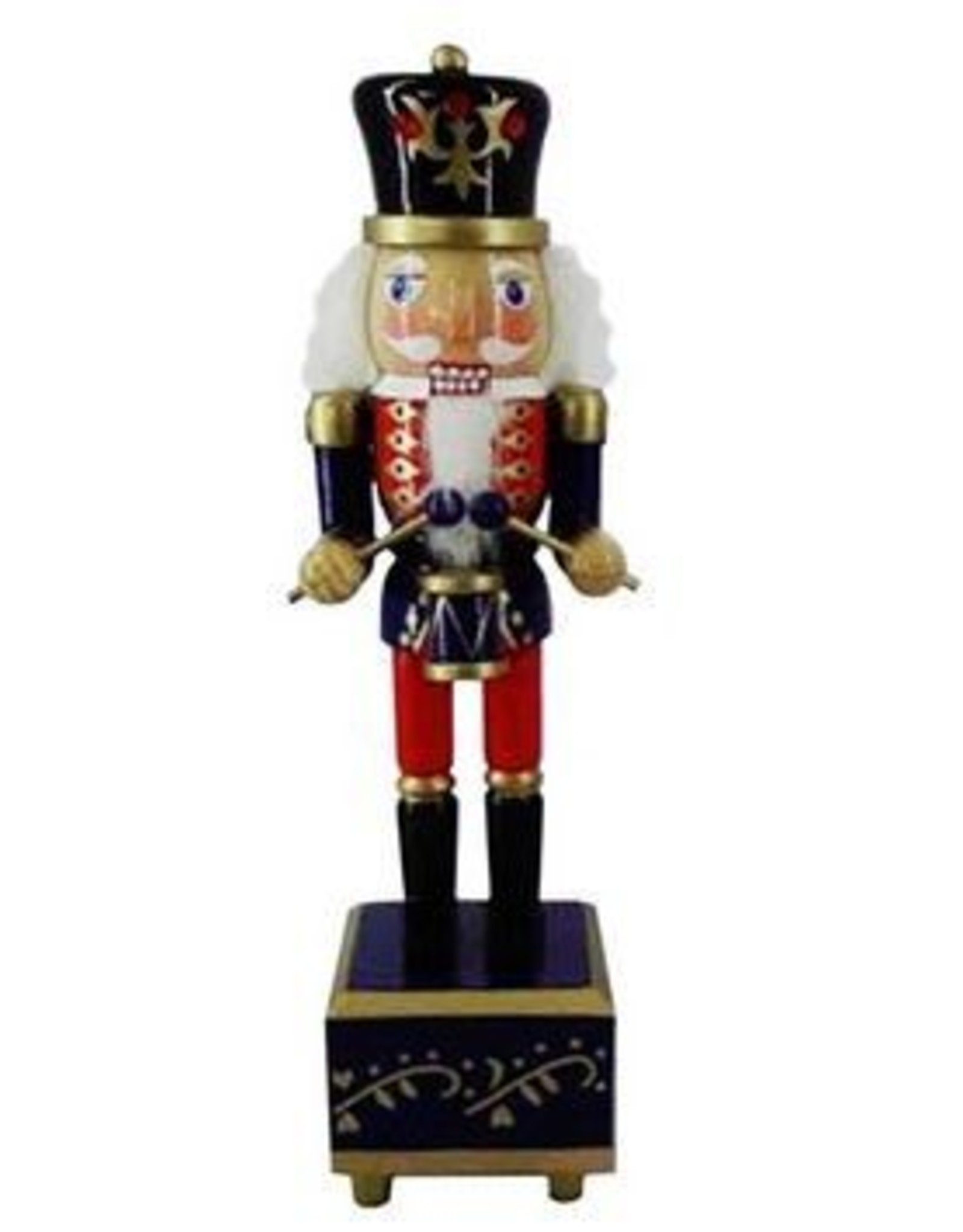 Nutcracker Ballet Gifts Nutcracker on Music Box traditional Colors 12 Inch