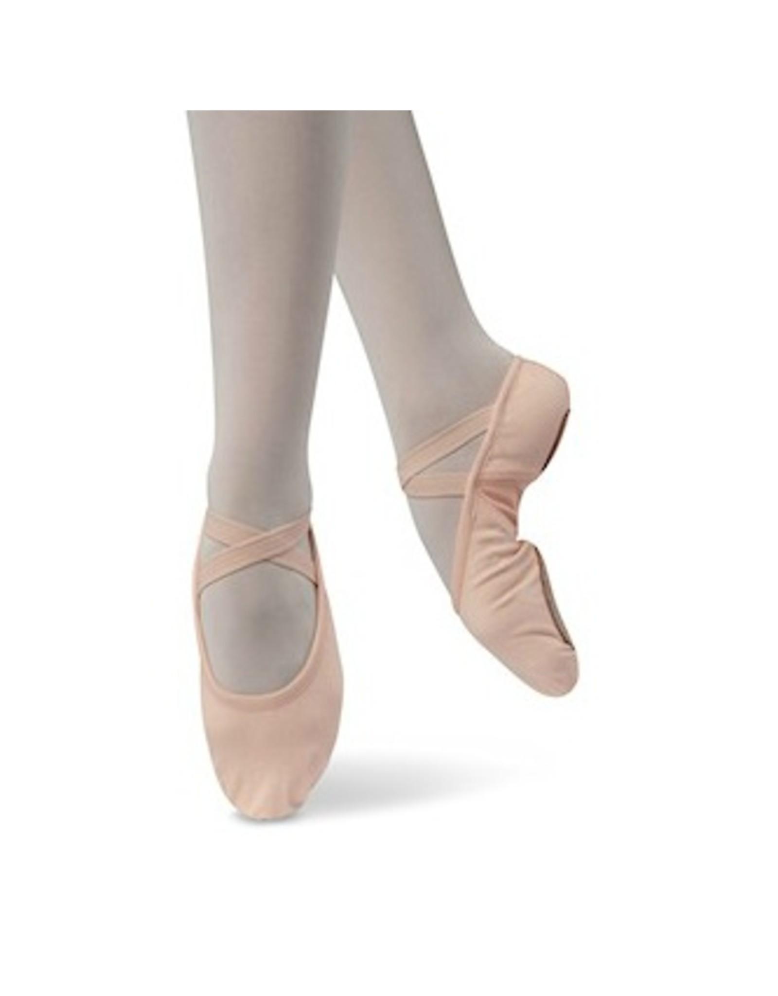Danshuz Stretch Canvas Ballet Slipper Child PNK