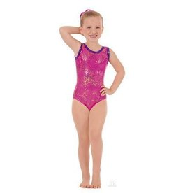 Child Metallic Splatter Gymnastics Tank Leotard