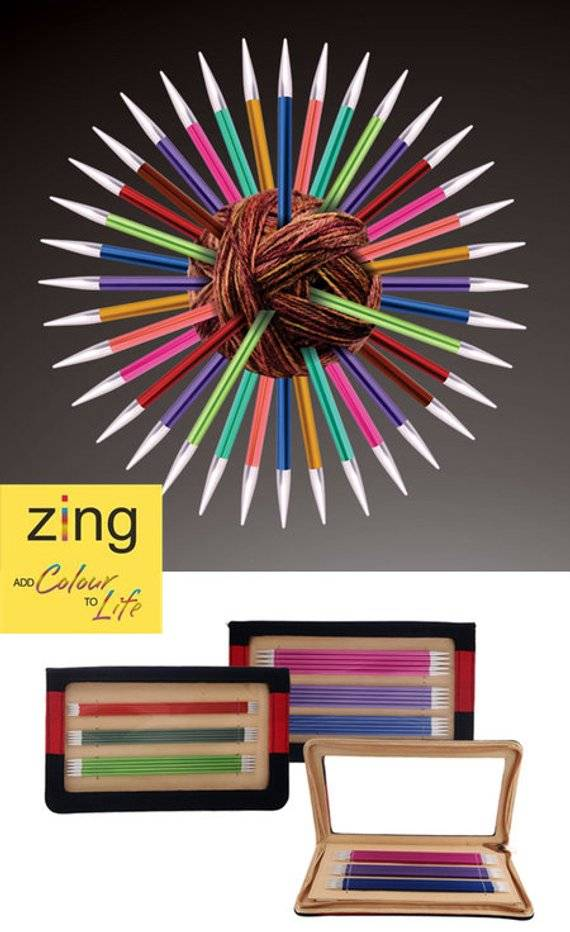 """knitters pride Knitters Pride 1303 Zing 6"""" DPN Set US 0-3"""