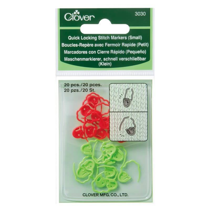 Clover 3030 Clover Quick Lock Stitch Markers Small