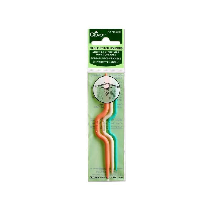 Clover 330 Clover Cable Stitch Holder (3 pc)
