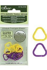Clover 3150 Clover Triangle Stitch Markers Medium
