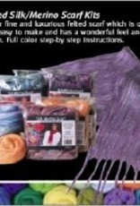 Nuno Felt Silk Merino Scarf Kit