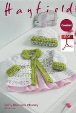 Hayfield Copy of Hayfield 5235 Baby Blossom Crochet Blanket