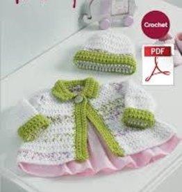 Hayfield Hayfield 5233 Baby Blossom Crochet Cardi & Hat