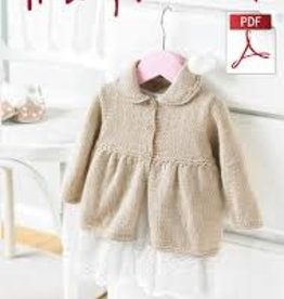 Hayfield Copy of Hayfield 5233 Baby Blossom Crochet Cardi & Hat