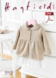Hayfield Copy of Hayfield 5233 Baby Blossom Crochet Cardi & Hat