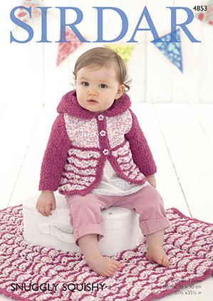 Sirdar Sirdar Snuggly Squishy 4853 Baby Cardi & Blanket