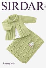 Sirdar 4941 Sirdar Snuggly 4 ply Cabled Jacket & Blanket