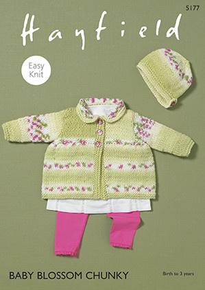Sirdar 5177 Sirdar Blossom Chunky Jacket & Bonnet