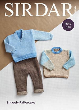 Sirdar 5190 Sirdar Pattercake Boys Sweater Crew or V-neck