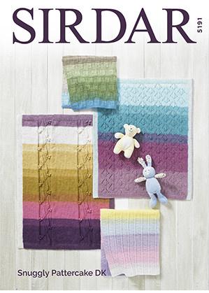 Sirdar 5191 Sirdar Pattercake Blankets in 4 designs