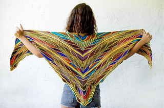 Butterfly Papillon Shawl by Marin Melchior URTH