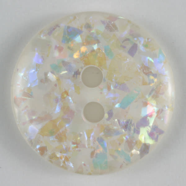 Dill Buttons 320145 White Sparkle Button 23 mm