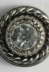 Dill Buttons 330592 Metal Swirl Rhinestone 11 mm