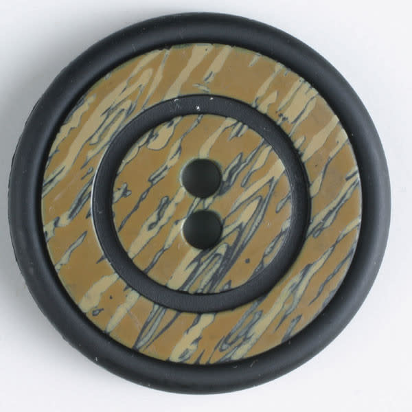 Dill Buttons 310594 FAUX WOOD 2 HOLE 23 MM