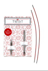 """ChiaoGoo ChiaoGoo Twist Short Combo 2"""" & 3"""" Tips with two 6"""" cords US 1 2.25mm"""