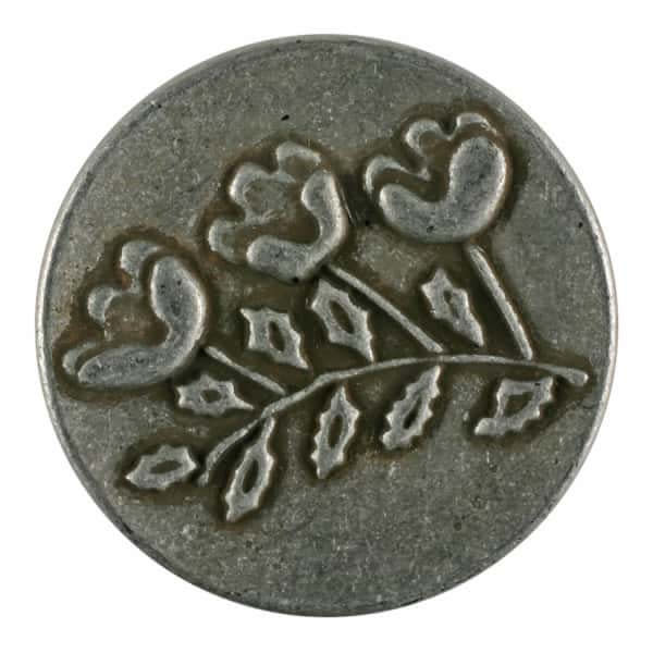Dill Buttons 281150 Metal Floral Button 15 mm
