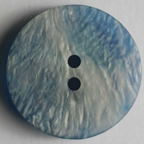 Dill Buttons 231418 Royal Blue Faux Shell Button 15 mm