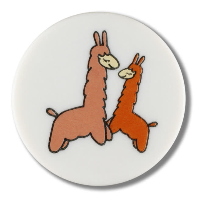 Dill Buttons 261330 White Llama Button 15 mm