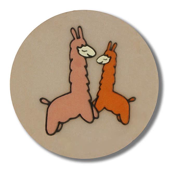 Dill Buttons 261331 Tan Llama Button 15 mm