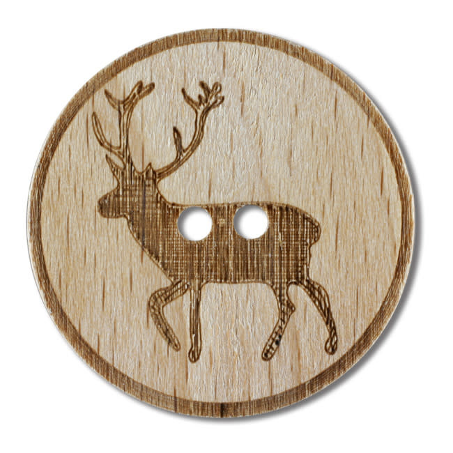 Dill Buttons 311024 Elk Wood Button 23mm
