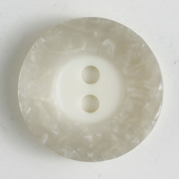 Dill Buttons 251292 Grey Border Button 18 mm