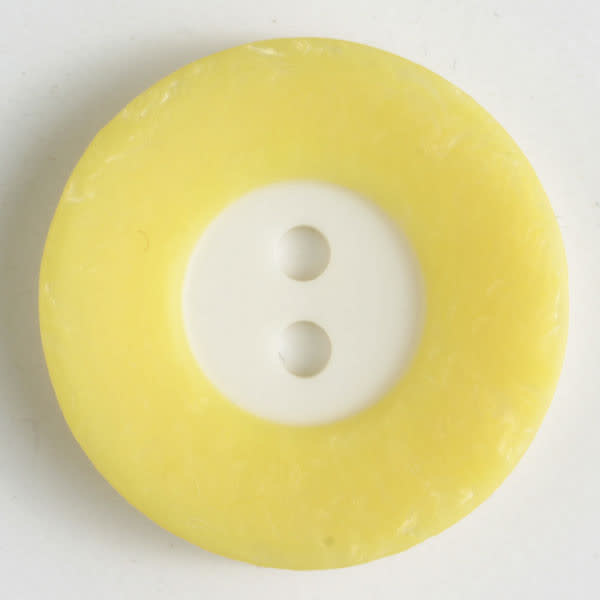 Dill Buttons 251296 Yellow Border Button 18 mm