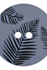 Dill Buttons 314805 Dark Blue Frond Button 18mm