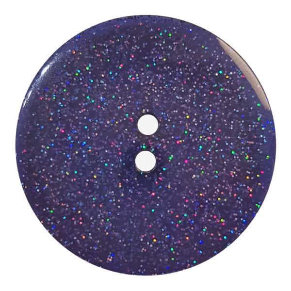 Dill Buttons 344881 Midnight Glitter Button 18mm