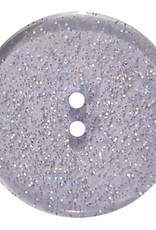 Dill Buttons 344879 Blue Glitter Button 18mm