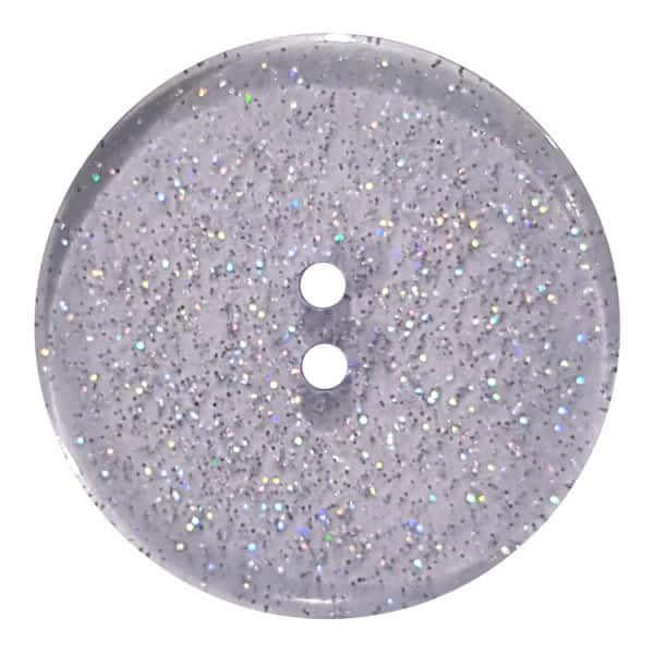 Dill Buttons 344879 Blue Glitter Button 18mm
