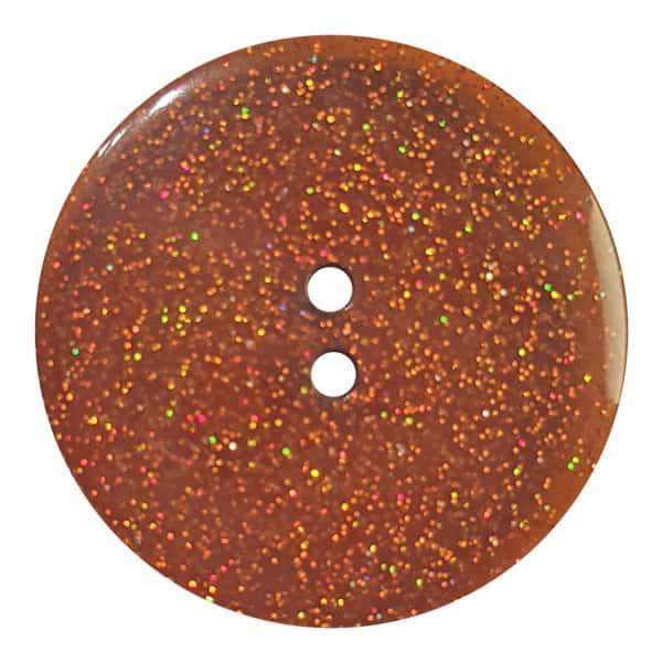 Dill Buttons 344878 Brown Glitter Button 18mm