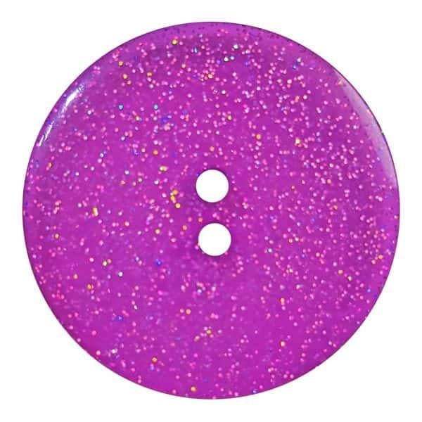 Dill Buttons 344882 Purple Glitter Button 18mm