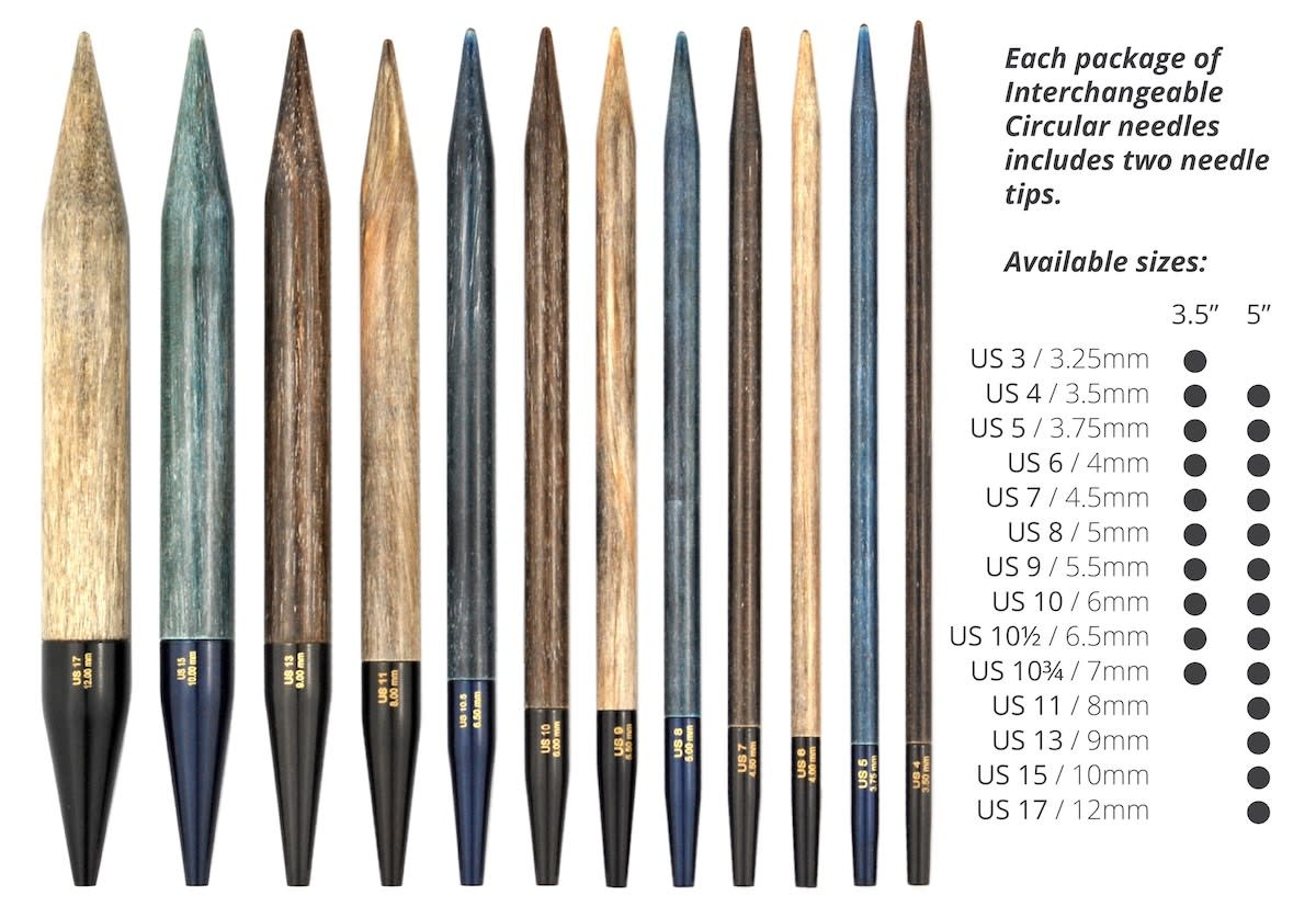 "LYKKECRAFTS Lykke Driftwood Interchangeable 5"" Tip 5.5 mm US 9"
