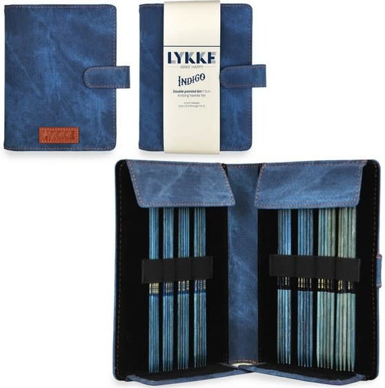 "LYKKECRAFTS Lykke INDIGO 6"" Double Point Needle Small Set US 0 - 5"