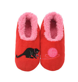 Snoozies Snoozie Slippers Women's Cat with Yarn