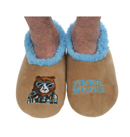 Snoozies Snoozie Slippers Mens FREE BEAR HUGS